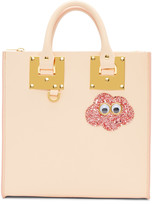 Sophie Hulme SSENSE Exclusive Pink Glitter Cloud Square Albion Tote