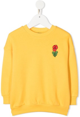 Mini Rodini Viola flower embroidered sweatshirt