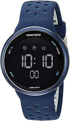 Armitron Sport Unisex 40/8423NVY Grey Accented Digital Chronograph Navy Blue Silicone Strap Watch