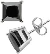 Black Diamond 10k White Gold 3-ct. T.W. Solitaire Earrings