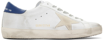 Golden Goose White and Off-White Nubuck Superstar Sneakers