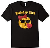 Heart Kiss Emoji Birthday Girl TShirt Sunglasses Hair Bow