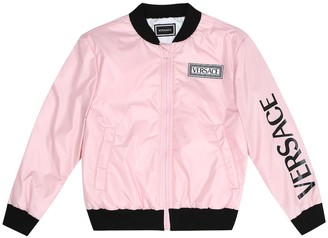 Versace Kids Satin bomber jacket