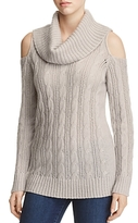 Design History Cold Shoulder Cable-Knit Sweater