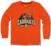 Carhartt Blaze Orange 'Carhartt' Graphic Tee - Boys