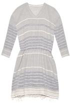 Lemlem Almaz striped cotton-blend dress