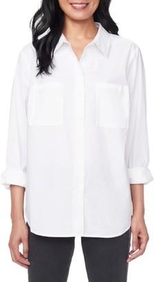 NYDJ Stretch-Cotton Utility Shirt