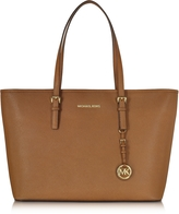 Michael Kors Jet Set Travel Medium Luggage Saffiano Leather Top-Zip Tote