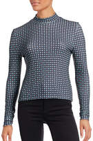 Clover Canyon Ribbed Medallion Turtleneck
