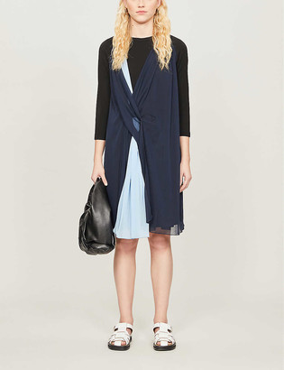 Sportmax Medeola draped stretch-jersey mini dress