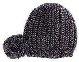 Armani Junior Girls' Knit Pom-Pom Beanie