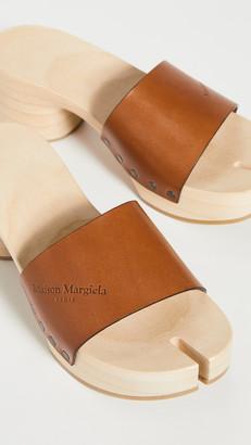 Maison Margiela Wooden Clog Sandals