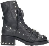 N°21 N.21 Black Calf Leather Lace Up Boots