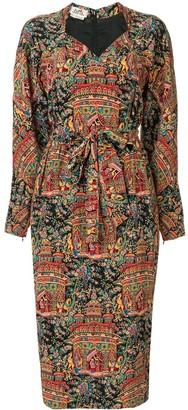 Hermes Pre Owned printed midi dress