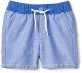 Gap Linen-cotton pull-on shorts