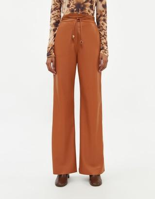 Nanushka Women's Chimo Vegan Leather Pant in Burnt Orange, Size Extra Small
