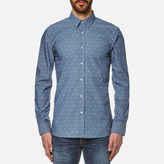 HUGO Men's Elisha Long Sleeve Shirt Navy