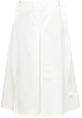 Marni Godet-pleat Cotton-sateen Midi Skirt - Cream