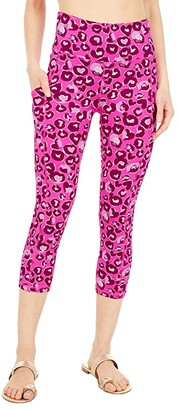Lilly Pulitzer High-Rise Crop (Mandevilla Pink Dont Be A Cheetah) Women's Casual Pants