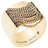 Michael Kors Draped Chain Barrel Ring