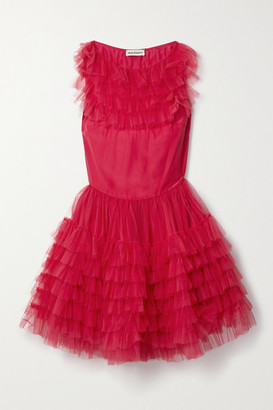 Molly Goddard Felicity Ruffled Tulle Mini Dress - Bright pink
