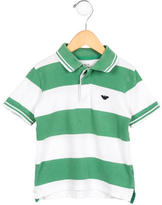 Armani Junior Boys' Striped Polo Shirt