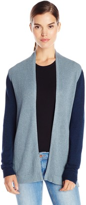 bela.nyc Women's Mona Waffle Stitch Open Cardigan Sweater