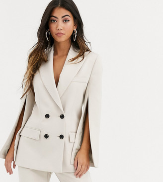 ASOS DESIGN Petite split sleeve suit blazer