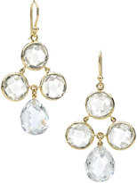Elizabeth Showers Audrey White Quartz Chandelier Earrings