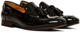 Hudson Piere Patent Black Loafer