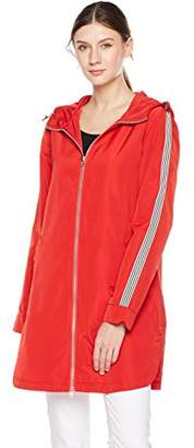 Otterline Women's Poly Memory Relaxed-Fit Full Front Zip with Hood Rain Jacket M