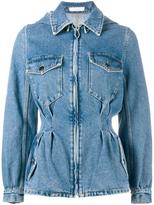 J.W.Anderson cinched denim jacket - women - Cotton - 10