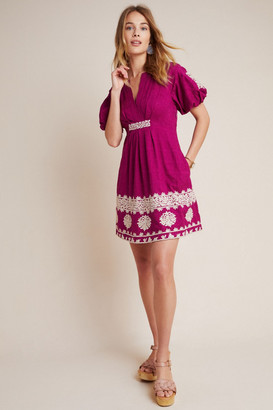 Anthropologie Provence Embroidered Mini