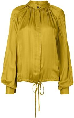Ann Demeulemeester long-sleeved drawstring-hem blouse