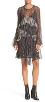 IRO Women's Print Ruffle Dress