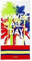 Lands' End Kids Graphic Beach Towel, , Waves All Day