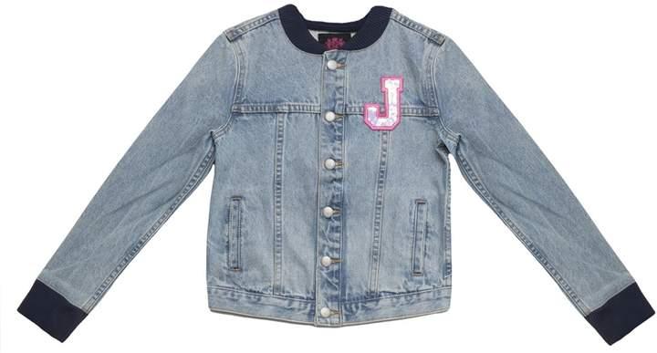 ba93db116 Juicy Collegiate Patch Denim Bomber Jacket for Girls
