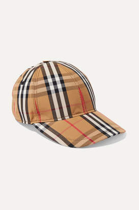 Burberry Checked Cotton-canvas Baseball Cap - Beige