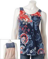 Sonoma life + style ® floral mixed-media tank