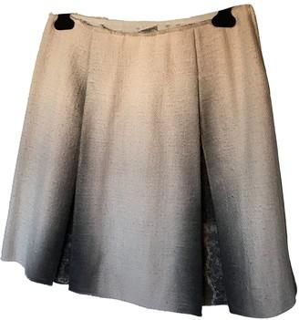 Bottega Veneta Beige Wool Skirt for Women