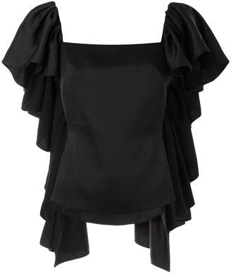 Cult Gaia Mona ruffled blouse