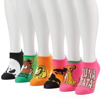 Disney Women's 6-pk. Disney's The Lion King No-Show Socks