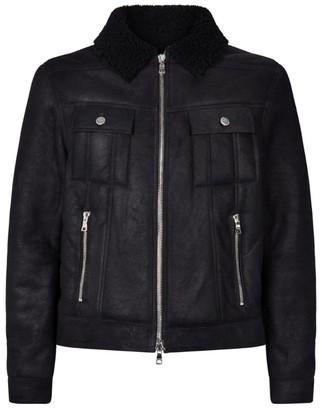 Balmain Leather Shearling Jacket