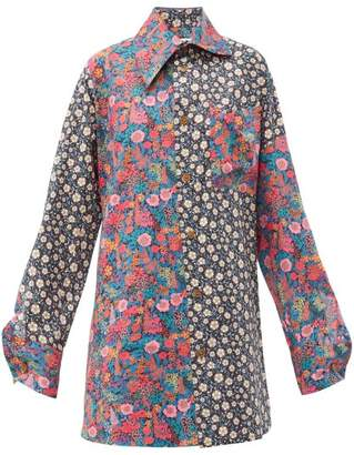 Vivienne Westwood Lottie Oversized Liberty-print Cotton Shirt - Womens - Multi