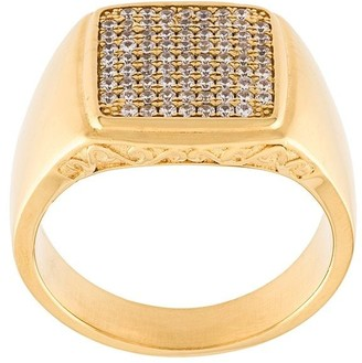 Nialaya Jewelry Embellished Signet Ring