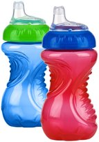 Nuby Easy Grip No Spill Sipper Soft Spout - Assorted Colors/Styles - 10 oz - 2 ct