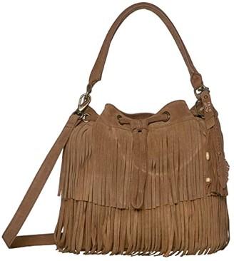 Frye AND CO. Phoebe Bucket Bag (Wine) Handbags