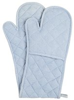 Neoviva Cotton Quilted Double Oven Glove for Baking, Solid Skyway Blue