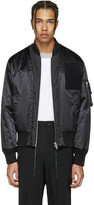 Maison Margiela Black Satin Bomber Jacket