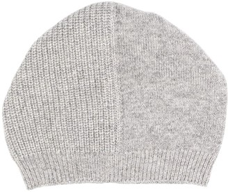 Peserico Multi-Knit Beanie Hat